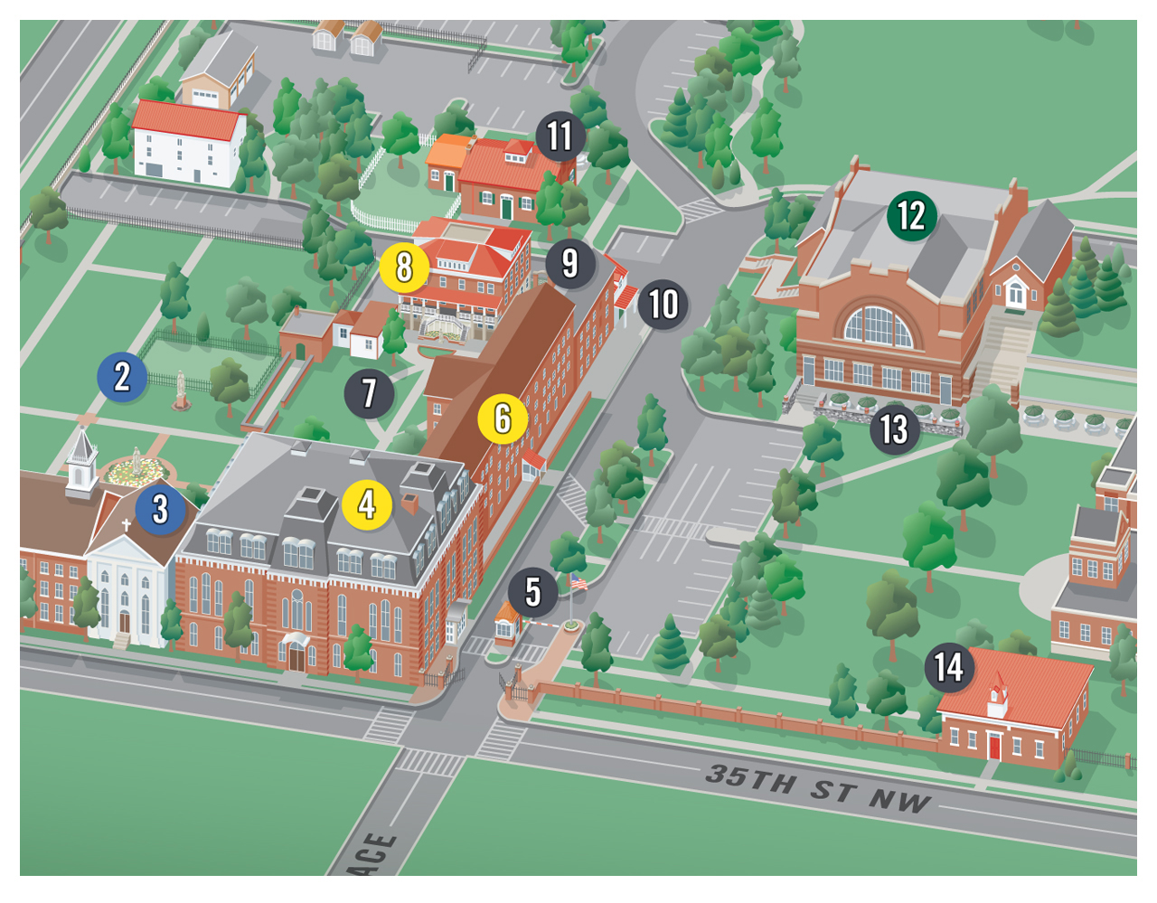 how to create 3d campus map