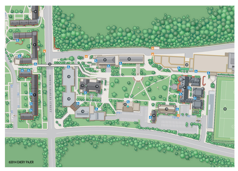 Loyola University Maryland Campus Map Image Gallery HCPR