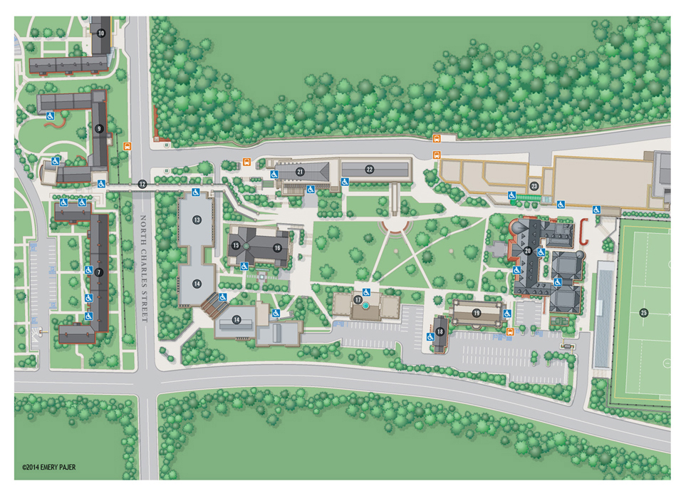 Wayfinding City, Park, and College Campus Map Illustration ... on graffiti of maryland, layout of maryland, landscape of maryland, graph of maryland, icons of maryland, clipart of maryland, food of maryland, drawing of maryland, cartoon of maryland,