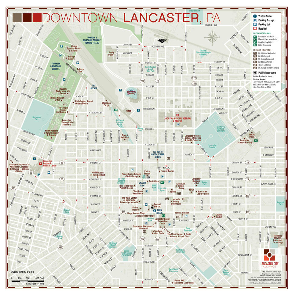 Wayfinding City, Park, and College Campus Map Illustration